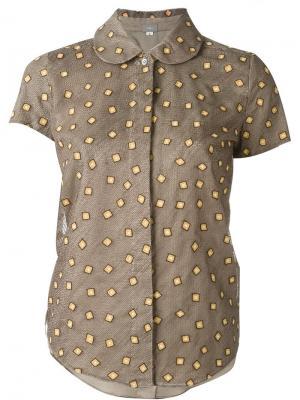 Рубашка с вышивкой Jupe By Jackie. Цвет: коричневый