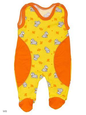 Ползунки Babycollection. Цвет: оранжевый, желтый