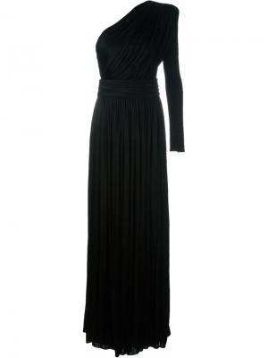 Платье на одно плечо Fausto Puglisi. Цвет: чёрный