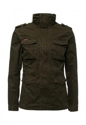 Куртка утепленная Superdry. Цвет: хаки