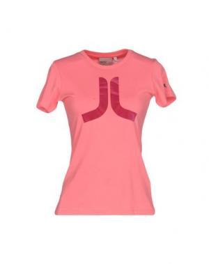Футболка WESC. Цвет: розовый