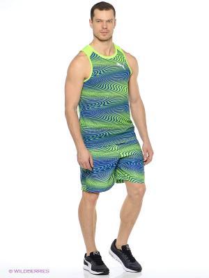 Майка спортивная GRAPHIC TANK Puma. Цвет: синий, зеленый