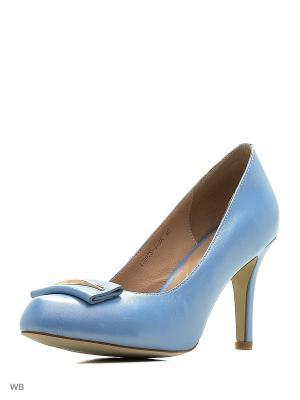 Туфли Renaissance. Цвет: голубой