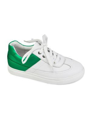 Кеды King Boots. Цвет: зеленый, белый