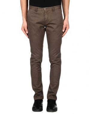 Повседневные брюки XAGON MAN. Цвет: темно-коричневый