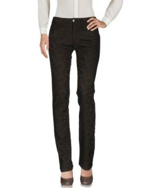Повседневные брюки FAIRLY. Цвет: темно-коричневый