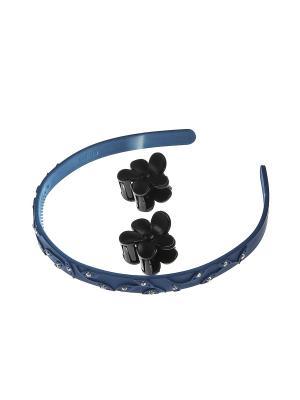 Аксессуары для волос (Ободок, заколка-краб - 2 шт.) Migura. Цвет: синий, черный