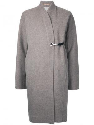 Длинное пальто Nehera. Цвет: коричневый