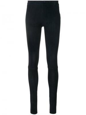 Skinny leather trousers Stouls. Цвет: синий