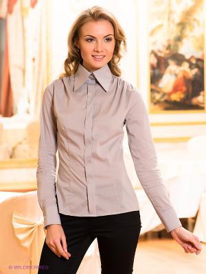 Блузка Satin. Цвет: серый