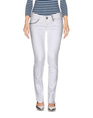 Джинсовые брюки TAKE-TWO. Цвет: белый