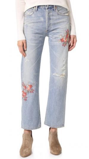 Свободные укороченные джинсы Cora с высокой посадкой Citizens of Humanity. Цвет: розовый