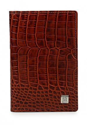 Обложка для документов Sergio Belotti. Цвет: коричневый