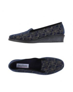 Домашние туфли VALLEVERDE. Цвет: темно-синий