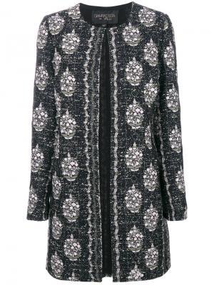 Пальто с вышивкой Giambattista Valli. Цвет: чёрный