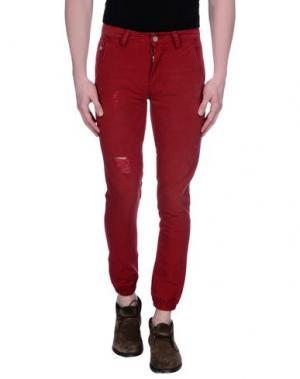 Повседневные брюки ROCK 'N' ROLL. Цвет: ржаво-коричневый