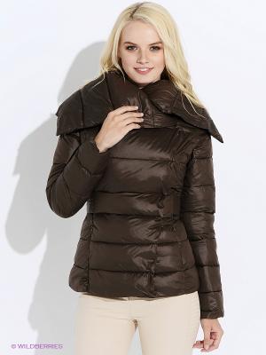 Куртка Oodji. Цвет: темно-коричневый
