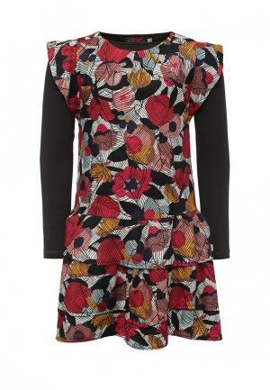 Комплект лонгслив и платье Catimini. Цвет: разноцветный
