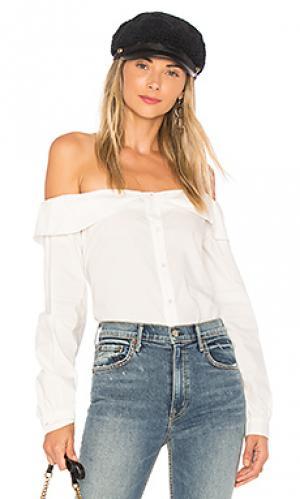 Рубашка с застёжкой на пуговицах nina LAcademie L'Academie. Цвет: белый