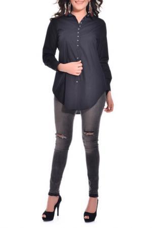 Рубашка VALERIA FRATTA. Цвет: черный