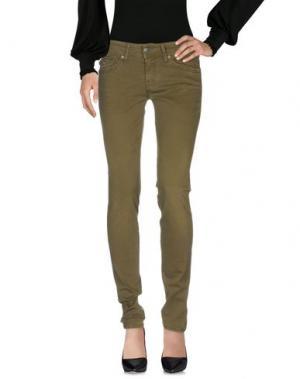 Повседневные брюки NOLITA. Цвет: зеленый-милитари