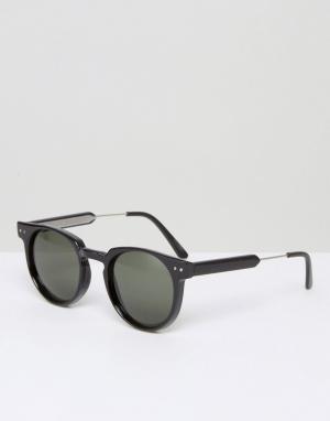 Spitfire Черные солнцезащитные очки. Цвет: черный