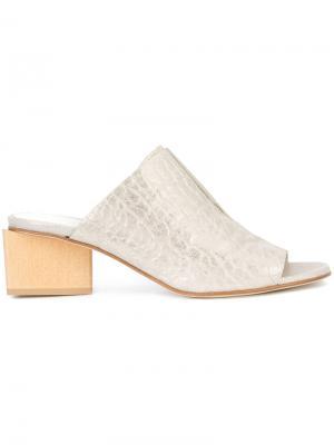 Contrast colour open toe mules Zero + Maria Cornejo. Цвет: металлический