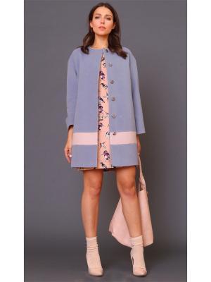 Пальто MARI VERA. Цвет: серый, розовый