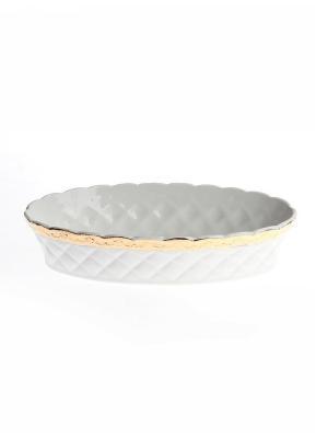 Блюдо овальное глубокое 30,5*17*7 см. PATRICIA. Цвет: белый