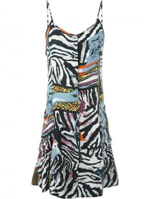 Платье с комбинированным принтом Jean Paul Gaultier Vintage. Цвет: многоцветный