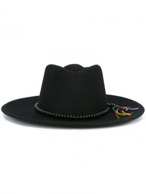 Шляпа с широкими полями Sensi Studio. Цвет: чёрный