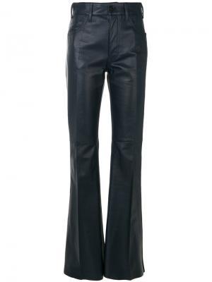 Расклешенные байкерские брюки Prada. Цвет: синий