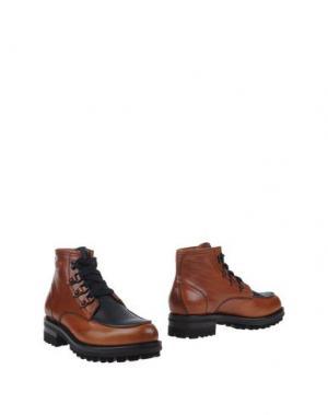 Полусапоги и высокие ботинки DSQUARED2. Цвет: желто-коричневый