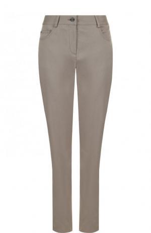 Однотонные джинсы прямого кроя St. John. Цвет: серый