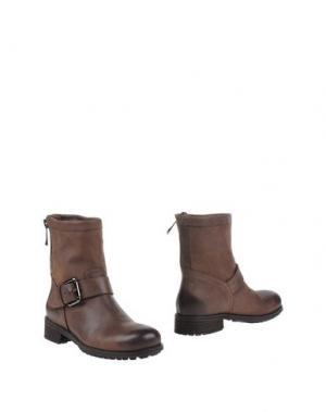 Полусапоги и высокие ботинки JULIE DEE. Цвет: темно-коричневый