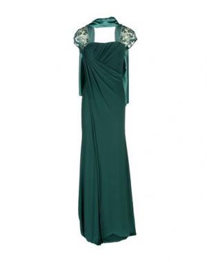 Длинное платье MUSANI COUTURE. Цвет: зеленый