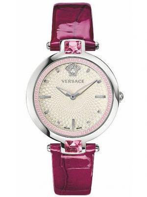 Часы Versace. Цвет: белый, розовый