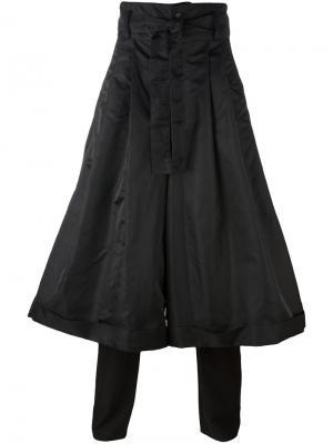 Широкие брюки со складками D.Gnak. Цвет: чёрный