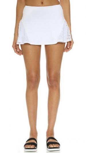 Теннисная юбка Deuce MICHI. Цвет: белый
