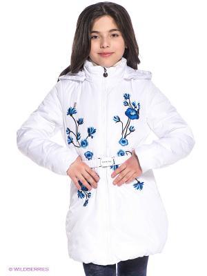 Пальто Steen Age. Цвет: белый, черный, синий