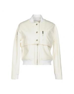 Джинсовая верхняя одежда COURRÈGES. Цвет: белый