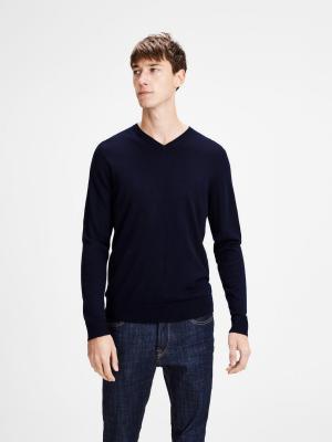 Пуловер Jack&Jones. Цвет: синий, индиго, морская волна