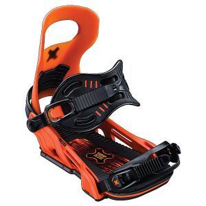 Крепления для сноуборда  Logic Bind Orange Bent Metal. Цвет: черный,оранжевый