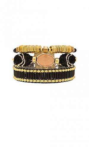 Мини-браслет lana HiPANEMA. Цвет: металлический золотой