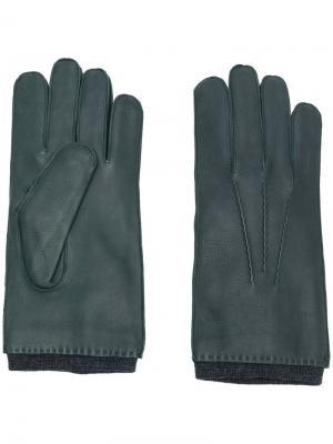 Классические перчатки Orciani. Цвет: зелёный