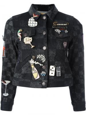 Куртка со значками Marc Jacobs. Цвет: чёрный