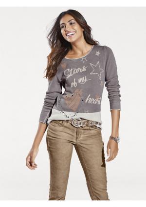Пуловер B.C. BEST CONNECTIONS. Цвет: серо-коричневый, серый