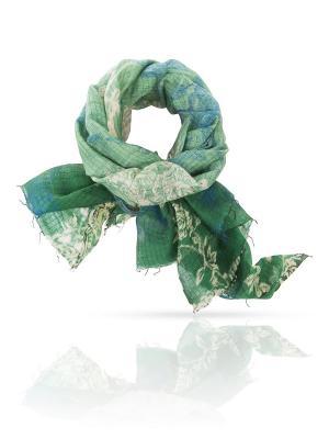 Палантин MICHEL KATANA`. Цвет: светло-зеленый, бирюзовый, оливковый