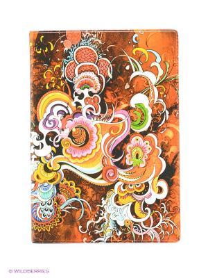 Обложка для автодокументов Инди стайл Mitya Veselkov. Цвет: рыжий, розовый, желтый