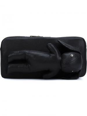 Клатч с деталью в виде зайца Dominic Louis. Цвет: чёрный